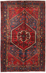 Hamadan Vloerkleed 130X208 Echt Oosters Handgeknoopt Donkerrood/Zwart (Wol, Perzië/Iran)