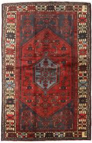 Hamadan Vloerkleed 127X197 Echt Oosters Handgeknoopt Donkerrood/Donkerbruin (Wol, Perzië/Iran)