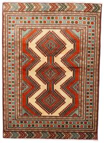 Turkaman Vloerkleed 125X172 Echt Oosters Handgeknoopt Donkerrood/Donkerbruin (Wol, Perzië/Iran)