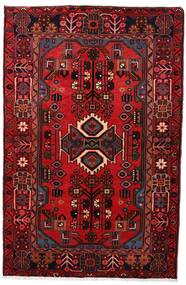 Nahavand Vloerkleed 103X161 Echt Oosters Handgeknoopt Donkerrood/Donkerbruin (Wol, Perzië/Iran)