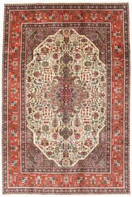 Tabriz Vloerkleed 194X288 Echt Oosters Handgeknoopt Donkerbruin/Lichtbruin (Wol, Perzië/Iran)