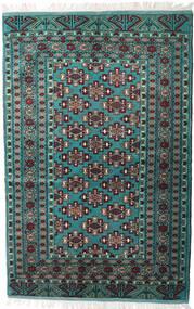 Turkaman Vloerkleed 135X203 Echt Oosters Handgeknoopt Zwart/Donkergrijs (Wol, Perzië/Iran)