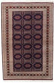 Turkaman Vloerkleed 134X197 Echt Oosters Handgeknoopt Donkerrood/Donkerbruin (Wol, Perzië/Iran)