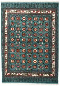 Turkaman Vloerkleed 136X187 Echt Oosters Handgeknoopt Donker Turkoois/Donkergrijs (Wol, Perzië/Iran)