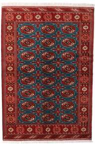 Turkaman Vloerkleed 132X195 Echt Oosters Handgeknoopt Donkerrood/Zwart (Wol, Perzië/Iran)