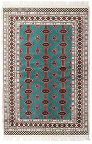 Turkaman Vloerkleed 135X198 Echt Oosters Handgeknoopt Beige/Lichtgrijs (Wol, Perzië/Iran)