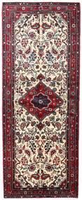 Asadabad Vloerkleed 87X224 Echt Oosters Handgeknoopt Tapijtloper Donkerbruin/Lichtroze (Wol, Perzië/Iran)
