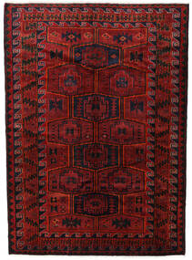 Lori Vloerkleed 182X248 Echt Oosters Handgeknoopt Donkerrood/Zwart (Wol, Perzië/Iran)