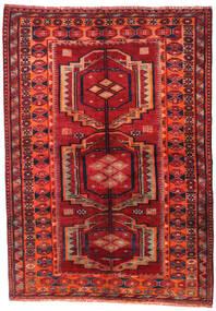 Lori Vloerkleed 158X223 Echt Oosters Handgeknoopt Donkerrood/Roestkleur (Wol, Perzië/Iran)