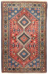 Yalameh Vloerkleed 80X126 Echt Oosters Handgeknoopt Zwart/Lichtbruin (Wol, Perzië/Iran)