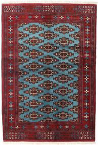 Turkaman Vloerkleed 133X190 Echt Oosters Handgeknoopt Donkerrood/Blauw (Wol, Perzië/Iran)