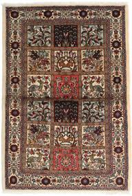 Sarough Vloerkleed 110X160 Echt Oosters Handgeknoopt Donkerbruin/Beige (Wol, Perzië/Iran)