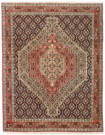Senneh Vloerkleed 123X158 Echt Oosters Handgeknoopt Donkerbruin/Lichtbruin (Wol, Perzië/Iran)
