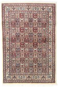 Moud Vloerkleed 98X150 Echt Oosters Handgeknoopt Beige/Lichtgrijs (Wol/Zijde, Perzië/Iran)