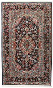 Ghom Kork/Zijde Vloerkleed 120X198 Echt Oosters Handgeknoopt Zwart/Donkergrijs (Wol/Zijde, Perzië/Iran)