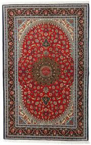 Ghom Kork/Zijde Vloerkleed 138X217 Echt Oosters Handgeknoopt Donkerbruin/Zwart (Wol/Zijde, Perzië/Iran)