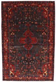 Nahavand Vloerkleed 156X245 Echt Oosters Handgeknoopt Donkerrood/Zwart (Wol, Perzië/Iran)