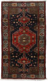 Hamadan Vloerkleed 106X188 Echt Oosters Handgeknoopt Donkerbruin/Donkerrood (Wol, Perzië/Iran)