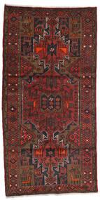 Hamadan Vloerkleed 100X199 Echt Oosters Handgeknoopt Donkerrood/Donkerbruin (Wol, Perzië/Iran)