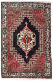 Senneh Vloerkleed 122X185 Echt Oosters Handgeknoopt Donkerblauw/Lichtgrijs (Wol, Perzië/Iran)