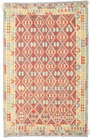 Kelim Afghan Old Style Vloerkleed 235X364 Echt Oosters Handgeweven Donkerbeige/Oranje (Wol, Afghanistan)