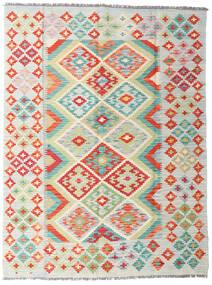 Kelim Afghan Old Style Vloerkleed 147X195 Echt Oosters Handgeweven Lichtgrijs/Beige (Wol, Afghanistan)