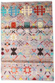 Moroccan Berber - Afghanistan Vloerkleed 119X177 Echt Modern Handgeknoopt Beige/Donkergrijs (Wol, Afghanistan)