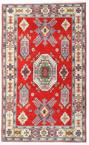 Kazak Vloerkleed 95X154 Echt Oosters Handgeknoopt Beige/Donkerrood (Wol, Afghanistan)