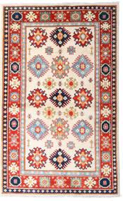 Kazak Vloerkleed 93X152 Echt Oosters Handgeknoopt Beige/Lichtroze (Wol, Afghanistan)