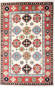 Kazak Vloerkleed 94X149 Echt Oosters Handgeknoopt Beige/Lichtgrijs (Wol, Afghanistan)