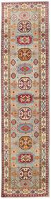 Kazak Vloerkleed 86X349 Echt Oosters Handgeknoopt Tapijtloper Lichtbruin/Lichtgrijs (Wol, Afghanistan)