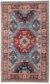 Kazak Vloerkleed 198X332 Echt Oosters Handgeknoopt Donkergrijs/Donkerrood (Wol, Afghanistan)