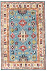 Kazak Vloerkleed 193X296 Echt Oosters Handgeknoopt Donkerbeige/Turquoise Blauw (Wol, Afghanistan)