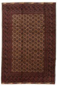 Afghan Vloerkleed 201X294 Echt Oosters Handgeknoopt Donkerrood/Bruin (Wol, Afghanistan)