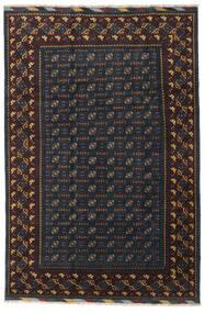 Afghan Vloerkleed 199X297 Echt Oosters Handgeknoopt Zwart/Donkergrijs (Wol, Afghanistan)