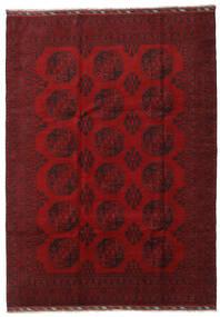 Afghan Vloerkleed 206X288 Echt Oosters Handgeknoopt Donkerrood/Rood (Wol, Afghanistan)