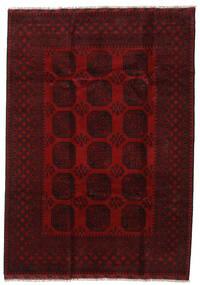 Afghan Vloerkleed 203X286 Echt Oosters Handgeknoopt Donkerbruin/Donkerrood (Wol, Afghanistan)