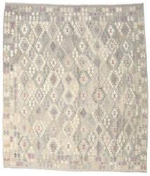 Kelim Afghan Old Style Vloerkleed 264X302 Echt Oosters Handgeweven Lichtgrijs/Beige Groot (Wol, Afghanistan)