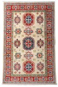 Kazak Vloerkleed 92X144 Echt Oosters Handgeknoopt Donkerrood/Beige (Wol, Afghanistan)