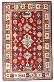 Kazak Vloerkleed 93X152 Echt Oosters Handgeknoopt Donkerrood/Beige (Wol, Afghanistan)