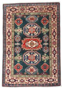 Kazak Vloerkleed 80X117 Echt Oosters Handgeknoopt Donkerblauw/Donkerrood (Wol, Afghanistan)