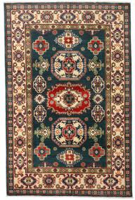 Kazak Vloerkleed 120X184 Echt Oosters Handgeknoopt Donkerblauw/Donkerrood (Wol, Afghanistan)