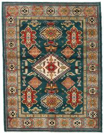 Kazak Vloerkleed 155X203 Echt Oosters Handgeknoopt Donkergroen/Donkerblauw (Wol, Afghanistan)