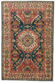 Kazak Vloerkleed 119X183 Echt Oosters Handgeknoopt Donkergrijs/Rood (Wol, Pakistan)