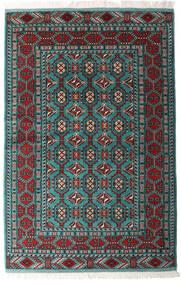 Turkaman Vloerkleed 140X208 Echt Oosters Handgeknoopt Zwart/Donkergroen (Wol, Perzië/Iran)