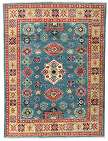 Kazak Vloerkleed 120X162 Echt Oosters Handgeknoopt Donkergroen/Donkerblauw (Wol, Pakistan)