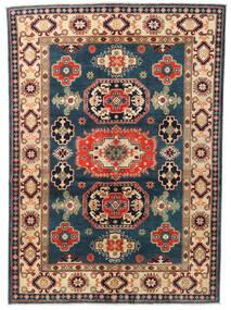 Kazak Vloerkleed 146X203 Echt Oosters Handgeknoopt Donkerblauw/Donkergrijs (Wol, Afghanistan)
