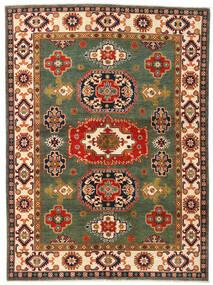 Kazak Vloerkleed 155X211 Echt Oosters Handgeknoopt Donkergroen/Rood (Wol, Afghanistan)