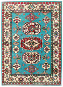Kazak Vloerkleed 176X241 Echt Oosters Handgeknoopt Turquoise Blauw/Beige (Wol, Afghanistan)