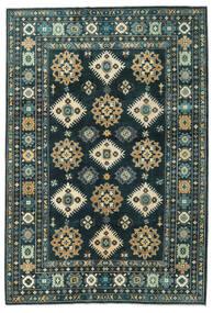 Kazak Vloerkleed 203X298 Echt Oosters Handgeknoopt Donkerblauw/Donker Turkoois (Wol, Afghanistan)